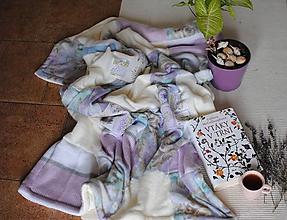 Úžitkový textil - Fialková deka - 10767698_