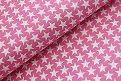 Detské doplnky - Ružová s hviezdičkami - 10771362_