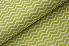 Úžitkový textil - Mini chevron light green - 10771409_