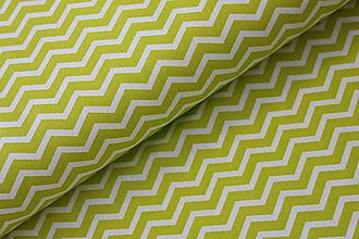 Úžitkový textil - Mini chevron light green - 10771409_