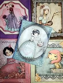 Textil - Darčeková taštička Mirabelle - 10769306_