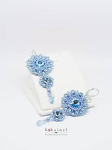 Náušnice - Elegance Blue - 10770812_