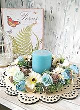 """Dekorácie - kvetinový veniec""""VINTAGE""""na stôl - 10769441_"""