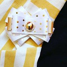 Odznaky/Brošne - Malá zlatá bodka - 10771212_