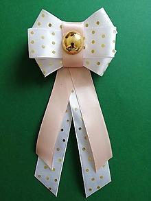 Odznaky/Brošne - Ružovo - zlatá bodka - 10771310_