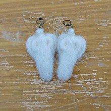 Náušnice - ...plstené náušničky - anjelíčky... - 10772543_
