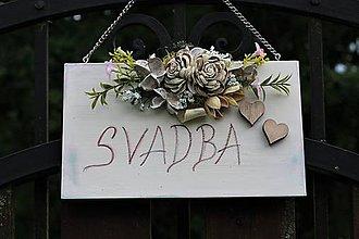 Tabuľky - Svadobná tabuľka - 10770731_