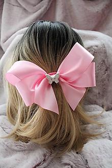 """Ozdoby do vlasov - Saténová gumička do vlasov """"ružová mašľa"""" - 10772940_"""