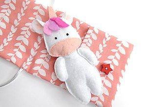 Hračky - Drobnosti v kapsičke pre dievčatá (Jednorožec: ružový) - 10770954_