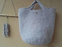 Veľké tašky - TOTE BAG svetlošedá - 10770837_