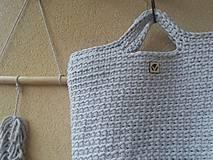Veľké tašky - TOTE BAG svetlošedá - 10770838_
