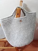 Veľké tašky - TOTE BAG svetlošedá - 10770848_