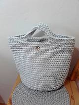 Veľké tašky - TOTE BAG svetlošedá - 10770849_