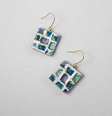 Náušnice - Tana šperky - keramika/zlato - 10769528_