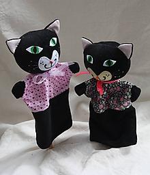 Hračky - Maňuška. Zvieratko Čierna mačka Čača. - 10772045_