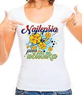 Topy, tričká, tielka - Naša milá pani učiteľka - 10770119_