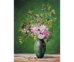 Obrazy - Divé ruže - 10769341_