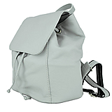 Batohy - Moderný kožený ruksak z pravej hovädzej kože v šedej farbe - 10771526_