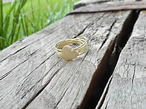 Prstene - Prstienok srdiečko v zlate - 10769410_
