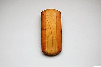 Ozdoby do vlasov - Drevená spona do vlasov - Veľká - Pruhy 1 - 10771687_