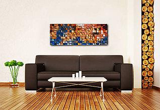 Dekorácie - Závesný drevený mozaikový 3D obraz - vzor 2 - 10773009_