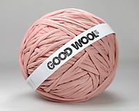 Materiál ručne robený - Tričkovlna GOOD WOOL... TELOVÁ (bambus) - 10769792_