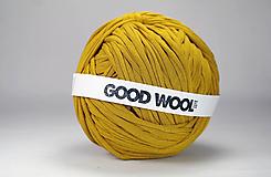 Materiál ručne robený - Tričkovlna GOOD WOOL... HORČICA (bambus) - 10770008_