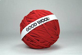 Materiál ručne robený - Tričkovlna GOOD WOOL... červená tmavá - 10769468_