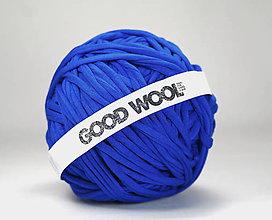 Materiál ručne robený - Tričkovlna GOOD WOOL... KRÁĽOVSKÁ MODRÁ (bambus) - 10769748_