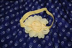 Detské doplnky - Čelenka žltá ruža - 10771171_