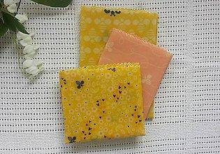 Úžitkový textil - Sada voskových obrúskov - 10769308_