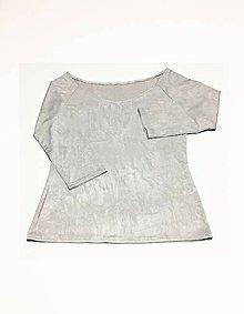 Tričká - dámske šedé tričko - 10772646_