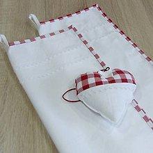 Úžitkový textil - DORA-červené káro veľké-utierky 60x40 - 10771416_