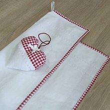Úžitkový textil - DORKA-červené káro malé-utierky 60x40 - 10772370_