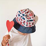 Detské čiapky - Letný klobúčik Londýn - 10772889_