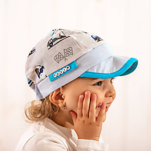 Detské čiapky - Letná šiltovka zajo pretekár - 10772927_