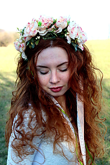 Ozdoby do vlasov - Ružové snívanie - čelenka do vlasov - 10770203_