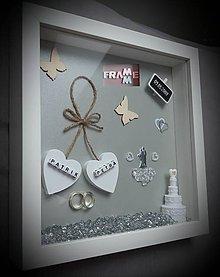 Rámiky - Pamiatka k výročiu svadby - 10771003_