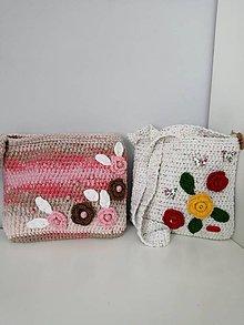 Detské tašky - Detská háčkovaná kabelka - 10770088_