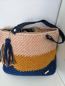 Veľké tašky - Háčkovaná taška - 10770132_