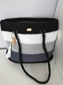 Veľké tašky - Háčkovaná taška - 10770139_