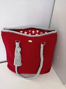 Veľké tašky - Háčkovaná taška - 10770167_