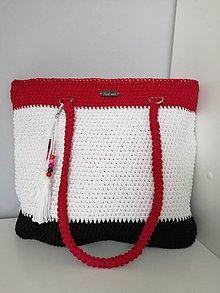 Veľké tašky - Háčkovaná taška - 10770201_