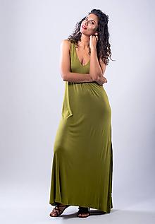 Šaty - šaty s mašličkami (M - Modrá) - 10772715_