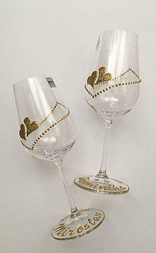Drobnosti - Svadobné poháre - 10769904_