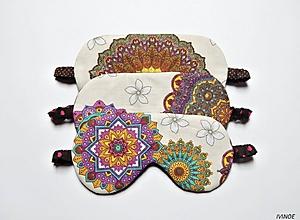 Iné doplnky - Masky na spanie - s mandalami - 10772436_