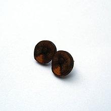 Náušnice - Drevené náušnice napichovacie - z rododendrónovej halúzky - 10772535_