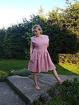 Šaty - Ľanové šaty - 10771130_