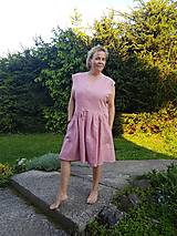 Šaty - Ľanové šaty - 10771132_