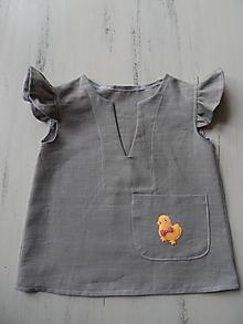 Detské oblečenie - Detské ľanové šatočky - 10769770_